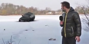 λιμνη αυτοκινητο