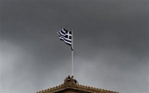 ελλαδα- σημαια -μαυρα συννεφα