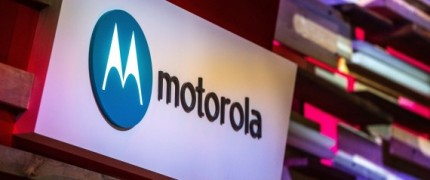 BARCELONA, SPAIN - MARCH 03: A logo sits illuminated outside the Motorola pavilion during the second day of the Mobile World Congress 2015 at the Fira Gran Via complex on March 3, 2015 in Barcelona, Spain. The annual Mobile World Congress hosts some of the wold's largest communication companies, with many unveiling their latest phones and wearables gadgets. (Photo by David Ramos/Getty Images)