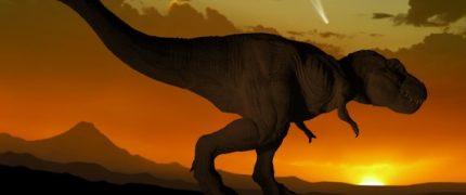 Tyrannosaurus and comet
