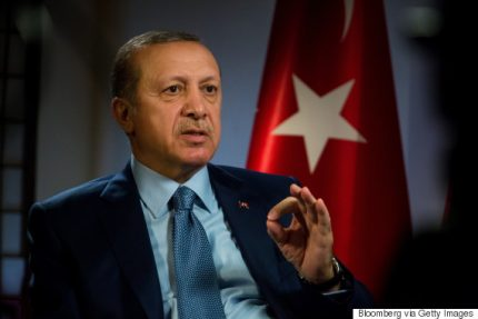 Recep Tayyip Erdogan, Turkey's president, speaks during a Bloomberg Television interview in New York, U.S., on Thursday, Sept. 22, 2016. Erdogan said he is not worried if his country is rated below investment grade as credit rating firms are making wrong decisions because of their political bias. Photographer: Michael Nagle/Bloomberg via Getty Images