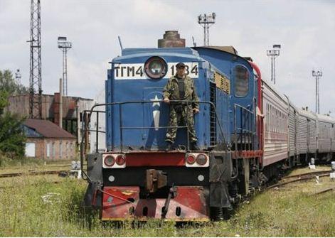 Το τρένο μεταφοράς των σορών των θυμάτων από το Ντονέτσκ στο Χάρκοβο   (Φωτογραφία:  Reuters )